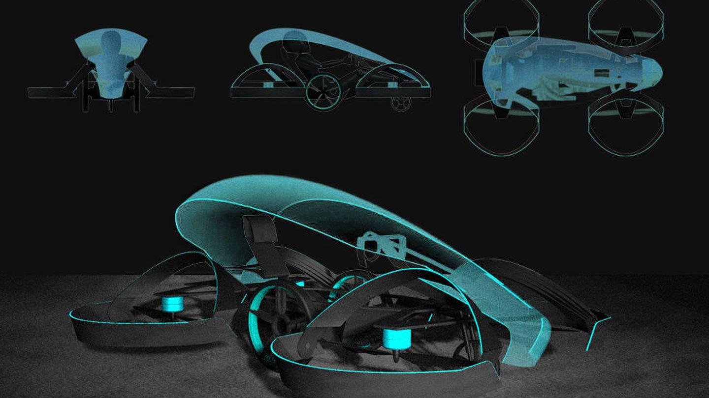 Planos del Skydrive, que podría estrenarse en los Juegos Olímpicos de Tokio. (Skydrive)