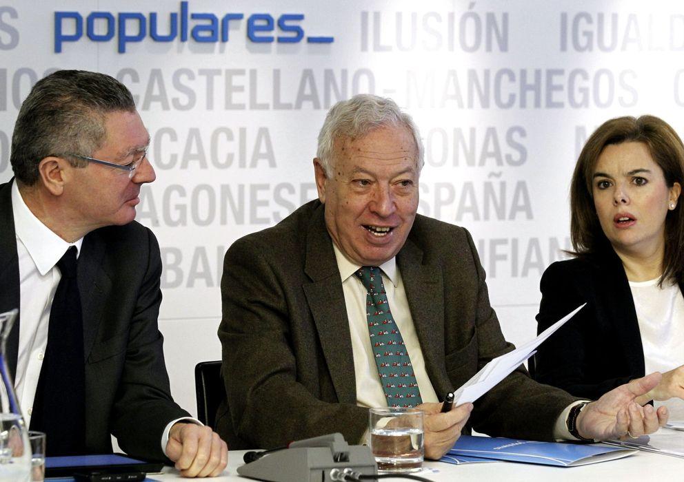 Foto: El ministro de Justicia, Alberto Ruiz-Gallardón, durante el Comité Ejecutivo (Efe)