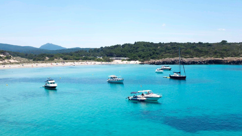 Imagen de una cala de Menorca.