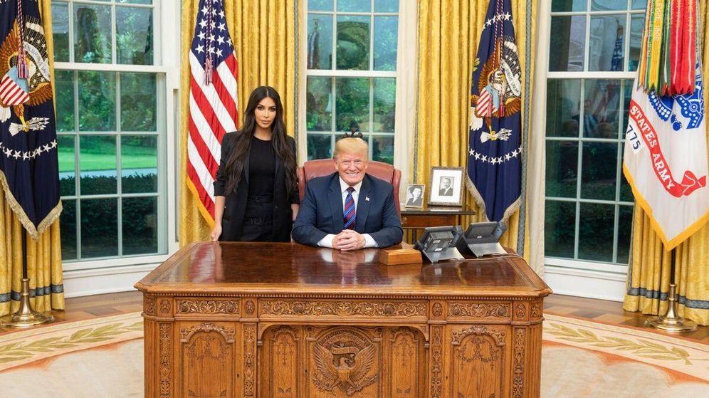 Foto: Kim Kardashian y Donald Trump. (Twitter)