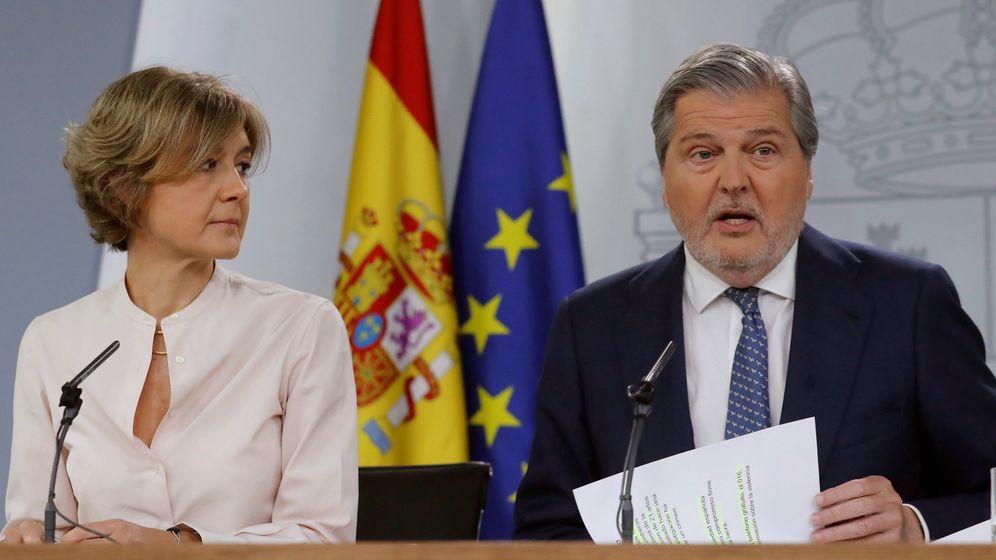 Foto: El ministro de Educación y portavoz del Gobierno, Íñigo Méndez de Vigo, durante la rueda de prensa posterior a la reunión del Consejo de Ministros de este viernes. (EFE)