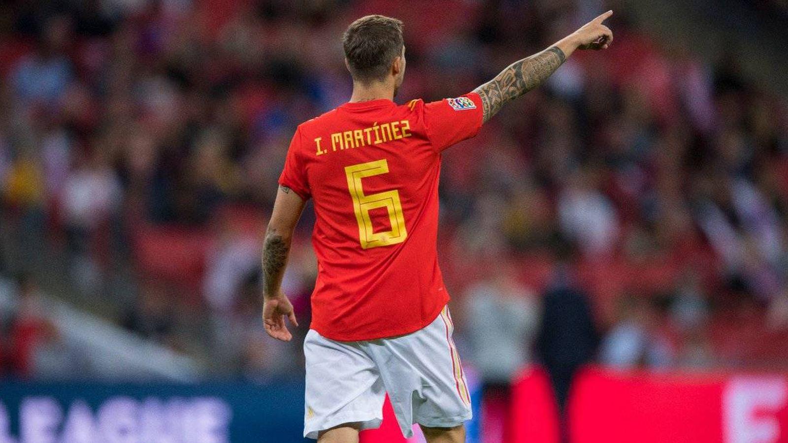 Foto: Iñigo Martínez jugó unos minutos con España en Wembley. (Reuters)