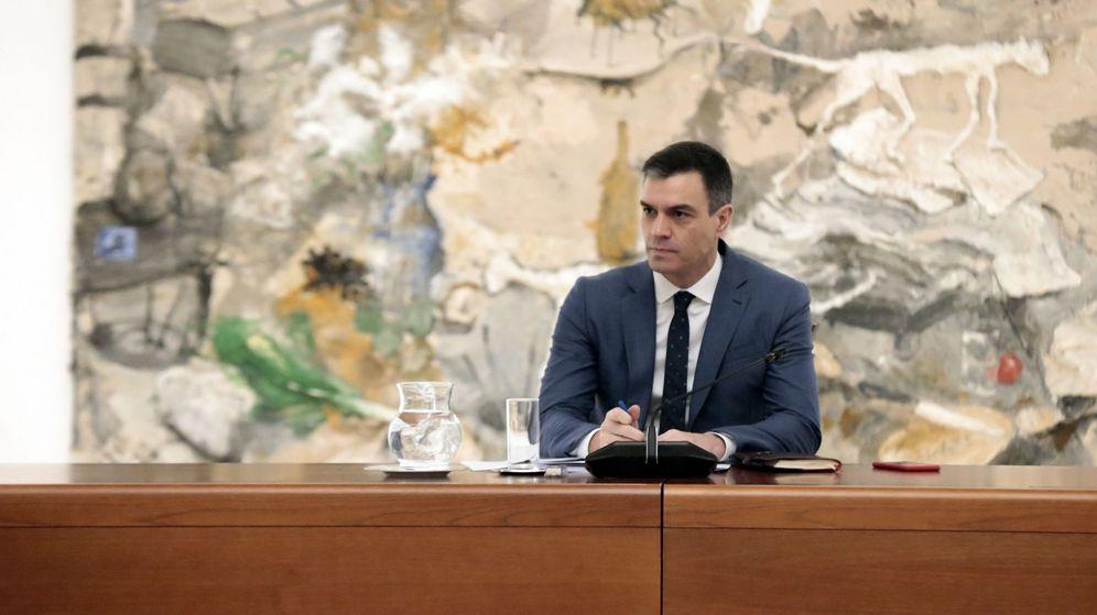 Foto: El presidente del Gobierno, Pedro Sánchez, durante una reunión del Comité Técnico de Gestión del coronavirus. (EFE)