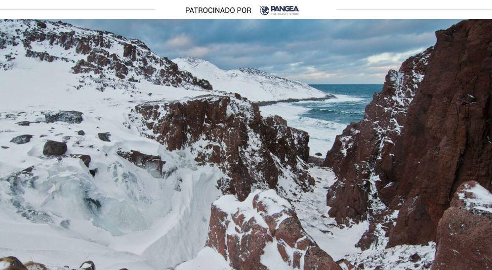 Foto: La nieve se confunde con la espuma de mar en Teriberka. (Foto: Roberto Carlos López Seixas)