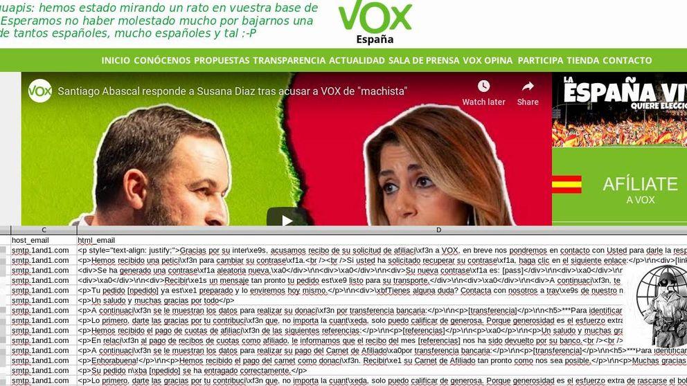 Vox minimiza el ataque de Anonymous: no han llegado a los datos de sus afiliados