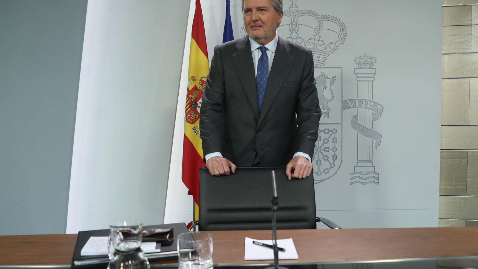 Foto: El portavoz del Gobierno, Íñigo Méndez de Vigo. (Reuters)