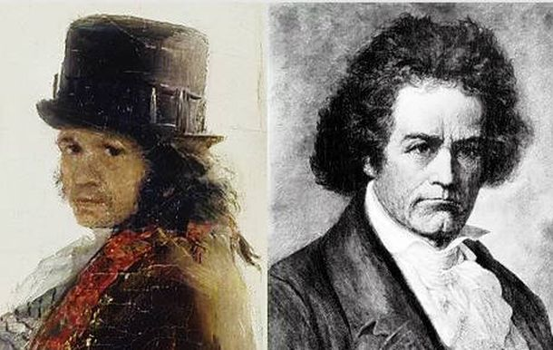 Foto: Goya y Beethoven