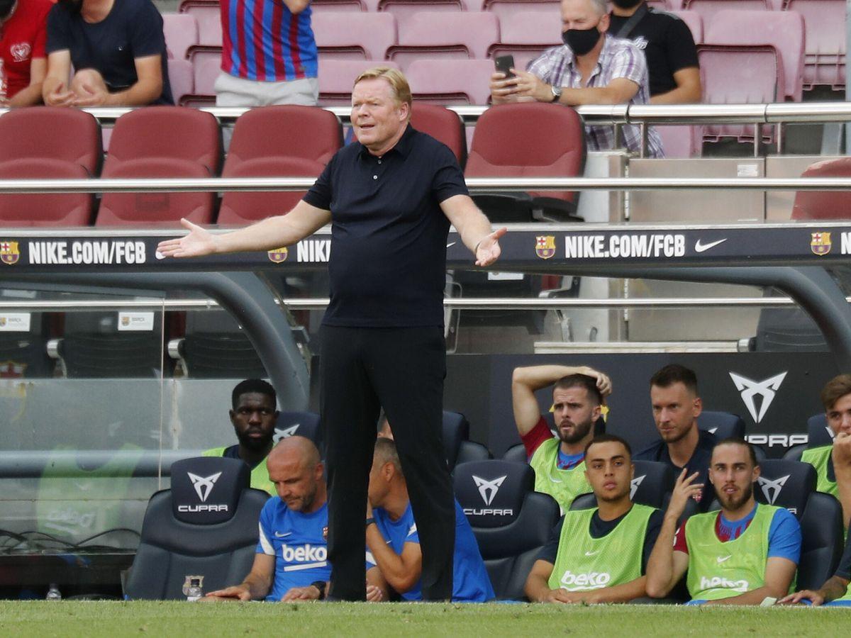 Foto: Ronald Koeman pide explicaciones a los suyos durante el Barça-Getafe. (Reuters)