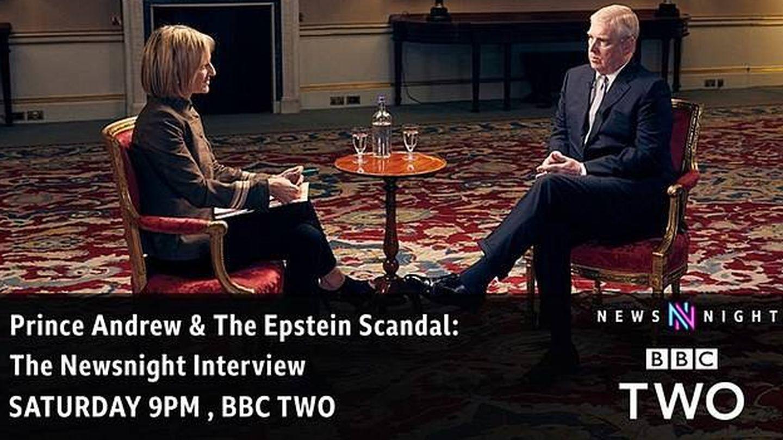 El príncipe Andrés durante su entrevista con la periodista Emily Maitlis. (BBC)