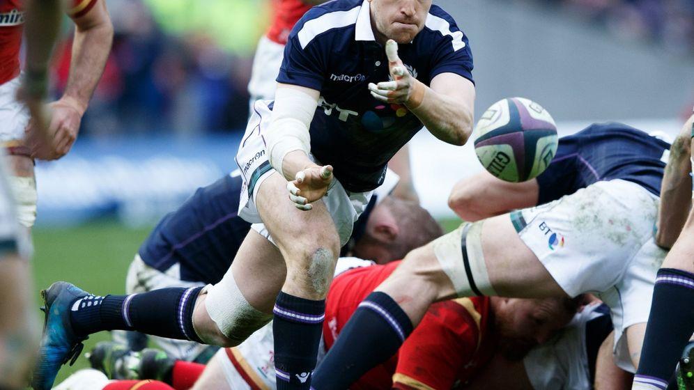 Foto: Escocia fue muy superior a Gales en el segundo tiempo (Robert Perry/EFE/EPA).