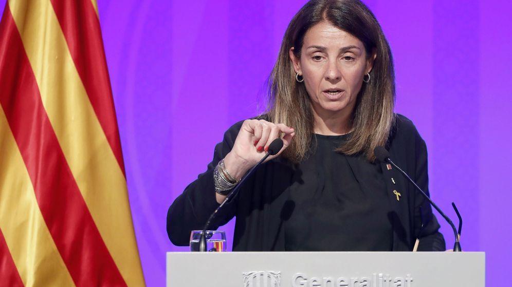 Foto: La consellera de la presidencia y portavoz del Govern, Meritxell Budó. (EFE)