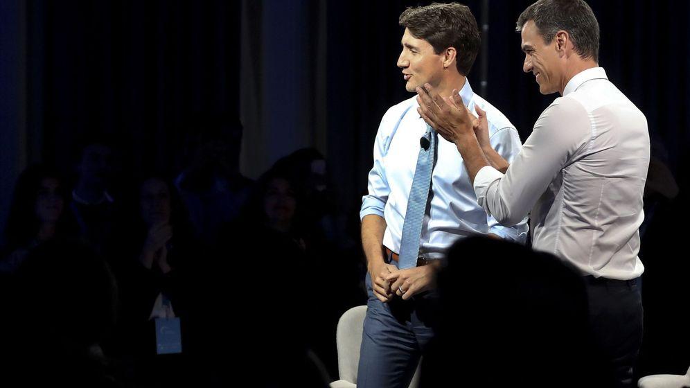 Foto: Pedro Sánchez junto a Trudeau. (EFE)