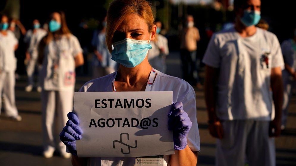 Foto: Una enfermera, en el Hospital La Paz, de Madrid. (EFE)