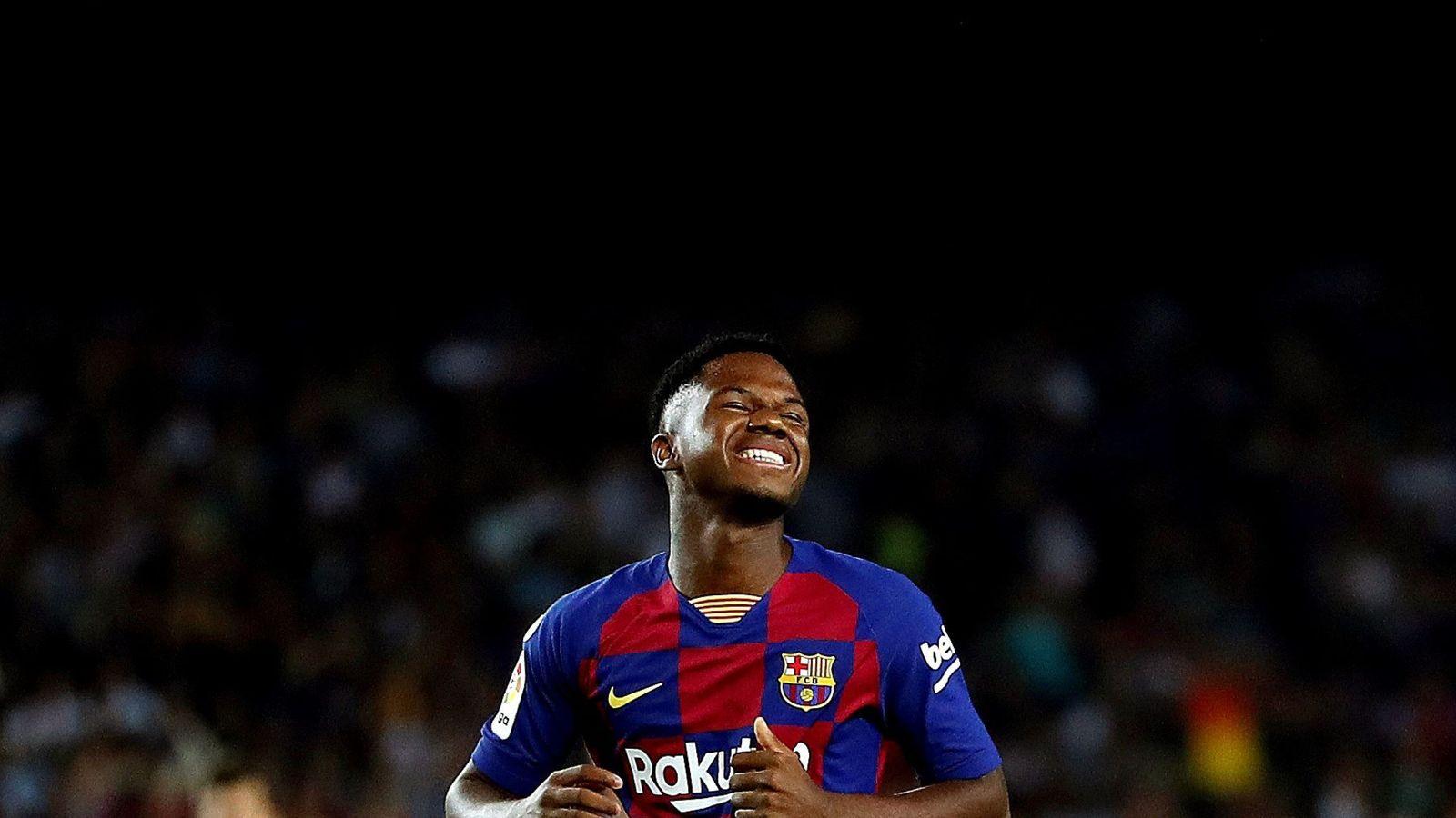 Foto: Ansu Fati con la camiseta del FC Barcelona. (EFE)