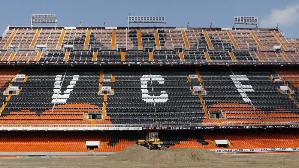 Foto: La grada de Mestalla, el campo del Valencia CF