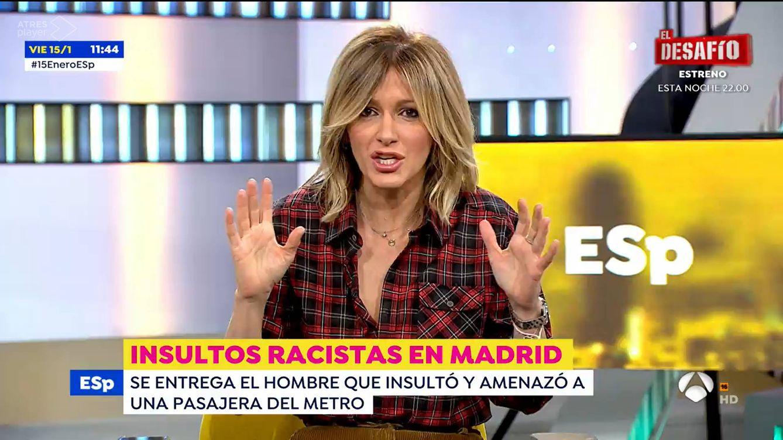 Susanna Griso para 'Espejo público' y lanza un dardazo a los políticos racistas