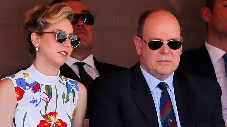 El príncipe Alberto y Jazmin, en una imagen de archivo. (Reuters)