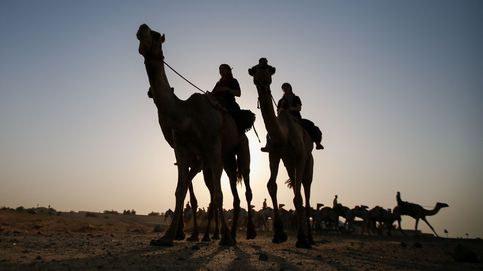 Primera escuela de equitación femenina en camello