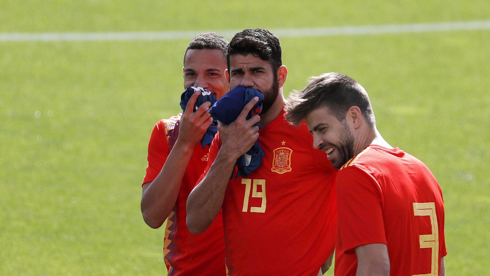Foto: Rodrigo Moreno y Diego Costa, con España. (EFE)
