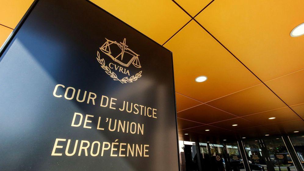 Foto: Acceso al Tribunal de Justicia de la Unión Europea en Luxemburgo. (EFE)