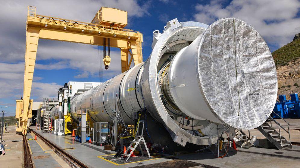 Foto: La prueba del cohete de combustible sólido durará algo más de dos minutos. (NASA)