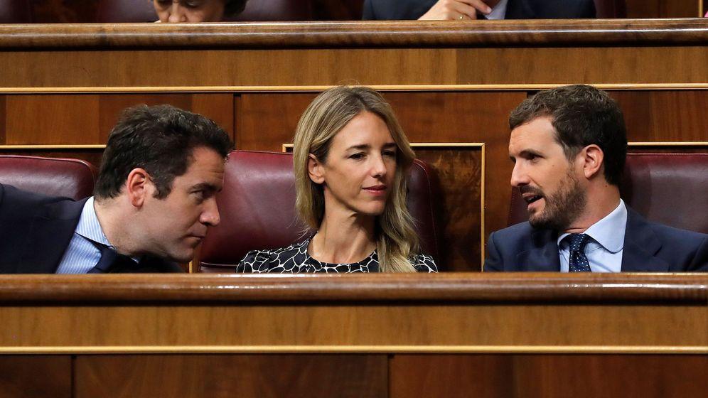 Foto: García Egea, Álvarez de Toledo y Casado. (EFE)