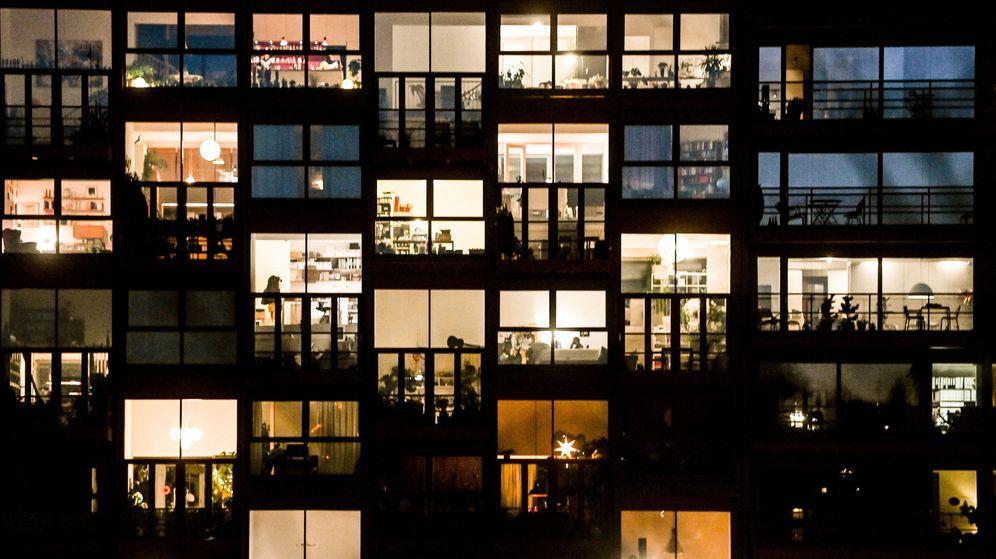 Foto: Un edificio de Berlín durante la pandemia. (EFE)