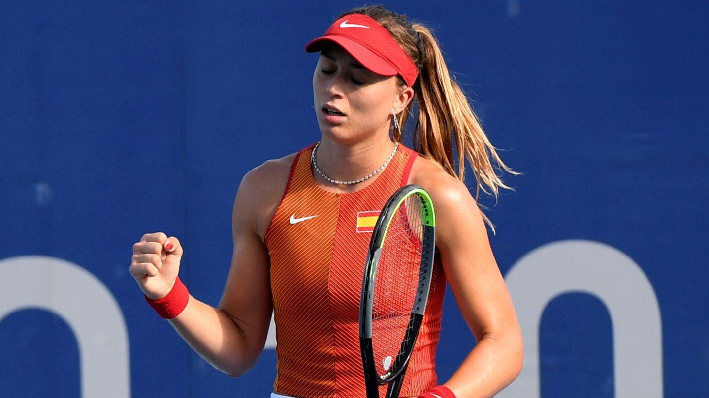 Paula Badosa celebra el triunfo ante la argentina Nadia Podoroska. (EFE)