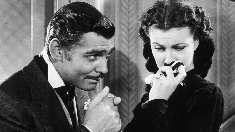 Gable y Vivien Leigh, en 'Lo que el viento se llevó'. (CP)