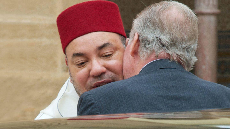 Don Juan Carlos y Mohamed VI. (Getty)