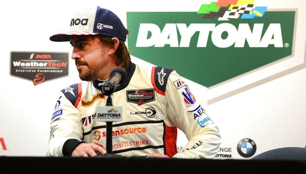 Foto: Fernando alonso se prepara para las 24 horas de Daytona. (EFE)