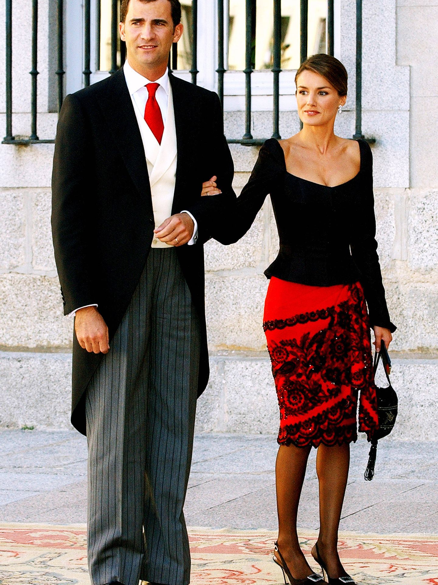 Don Felipe y doña Letizia, de boda. (Getty)