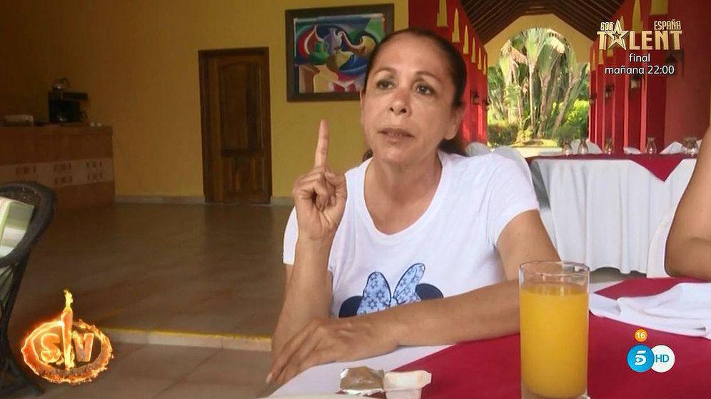 Foto: Isabel Pantoja, contra Omar en 'Supervivientes 2019'. (Telecinco)