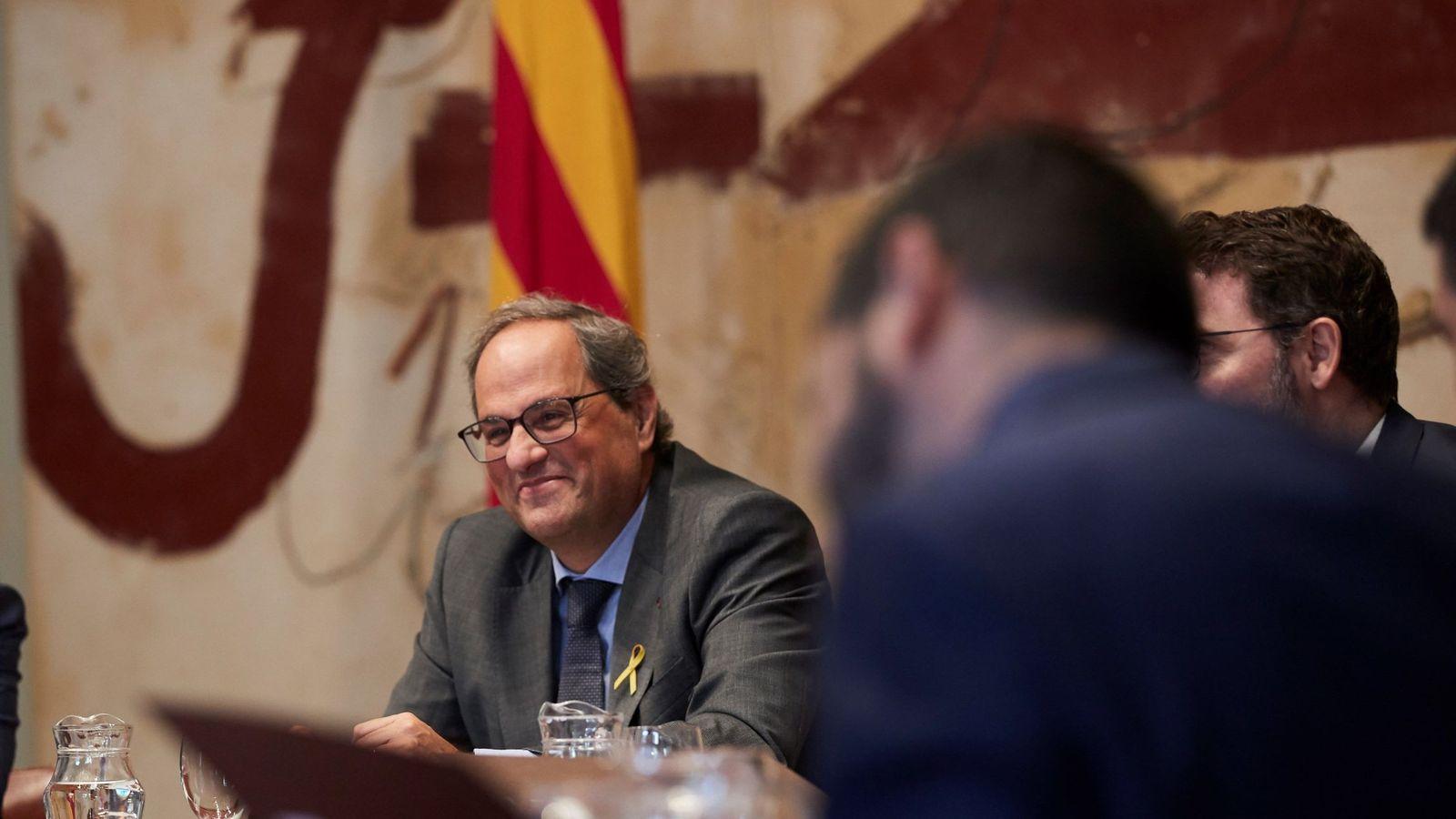 Foto: El presidente de la Generalitat, Quim Torra, en una reunión del Ejecutivo que lidera. (EFE)