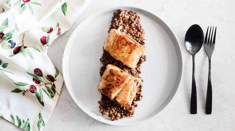 Bacalao con miso y lentejas, un plato de pescado con sabores de oriente y occidente