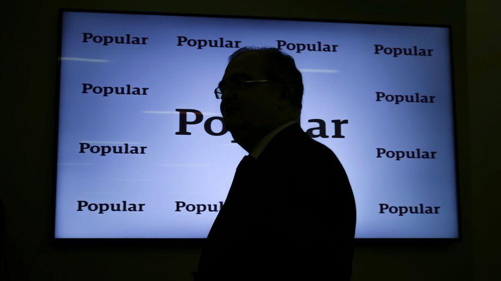 Foto: Ángel Ron, en la presentación de resultados del Popular en febrero de 2017 (EFE), la última de su presidencia.