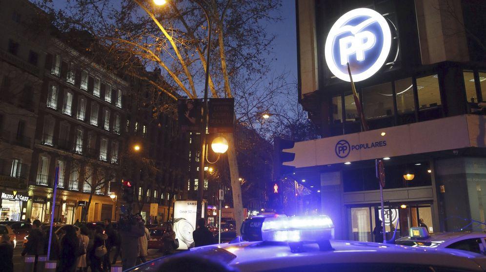 Foto: Fachada de la sede del Partido Popular en la calle Génova. (EFE)