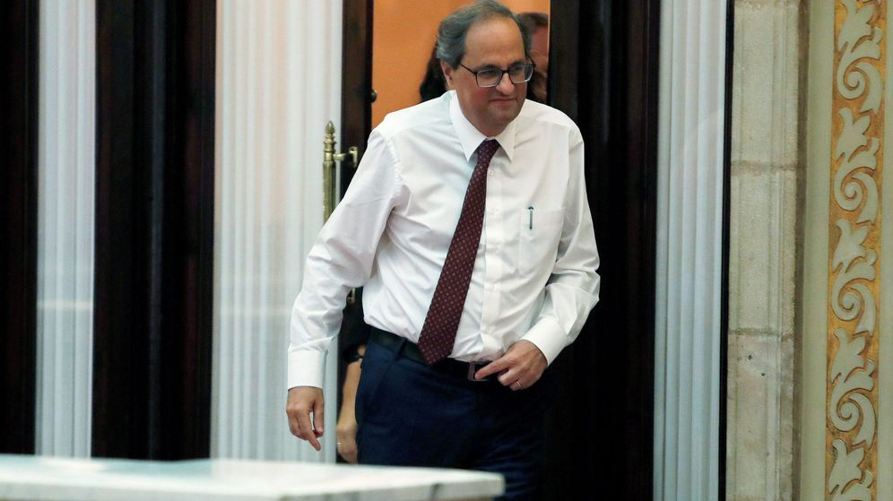 Foto: El presidente de la Generalitat, Quim Torra, sale de su despacho. (EFE)