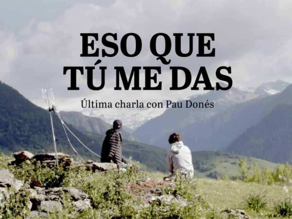 Foto: Portada del documental 'Eso que tú me das', la última charla de Pau Donés (Producciones del Barrio)