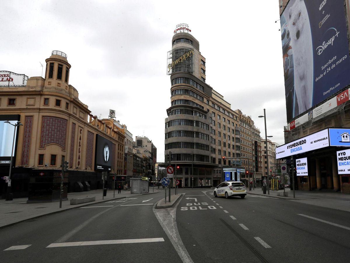 Foto: El Madrid vacío. (Kiko Huesca/Efe)
