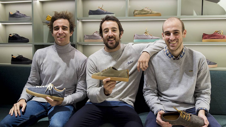 De izquierda a derecha, Nacho Vidri, Jaime Garrastazu y Jorge Vidri, fundadores de Pompeii.