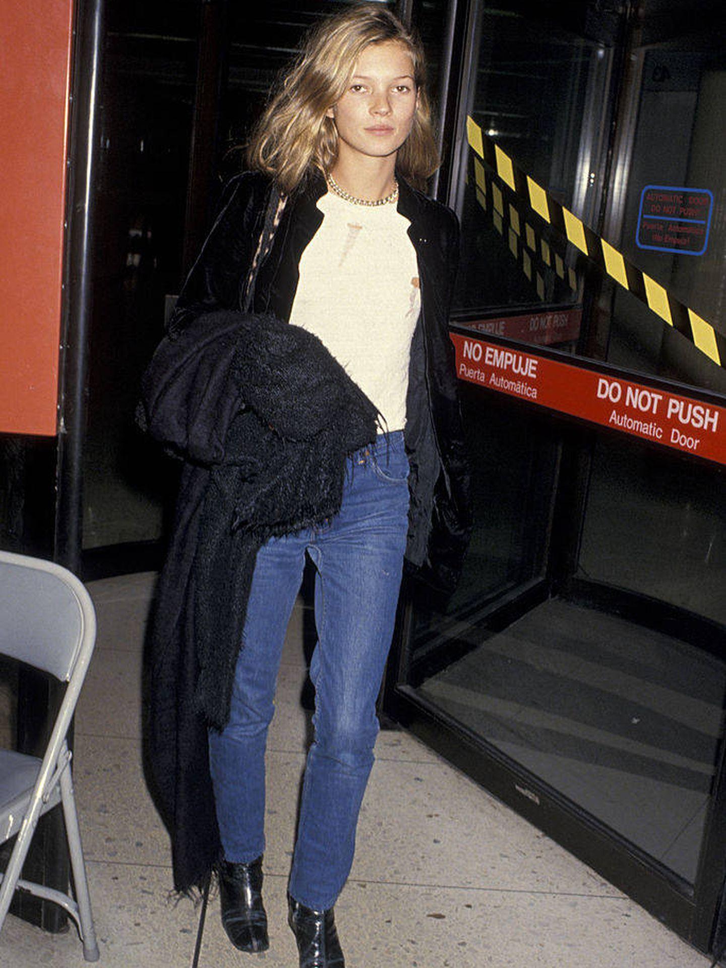 Kate Moss, en 1994. (Getty)