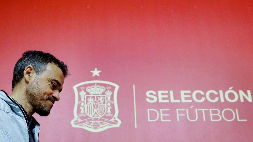 Foto: Luis Enrique, antes de una rueda de prensa como seleccionador español. (EFE)