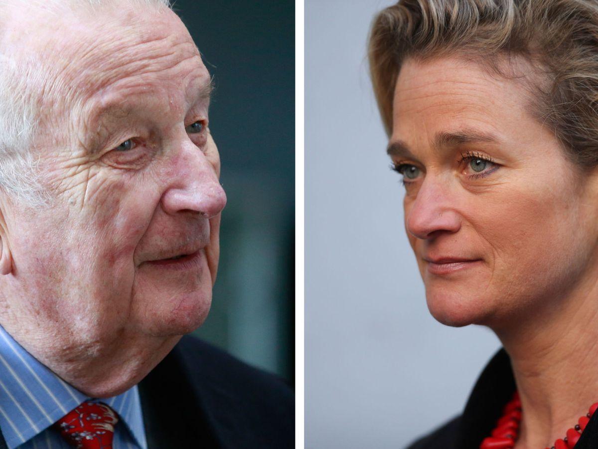 Foto: Delphine Boël y el rey Alberto de Bélgica. (EFE)