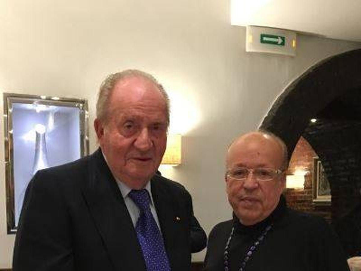 Foto: Rappel y Juan Carlos I. (Twitter)