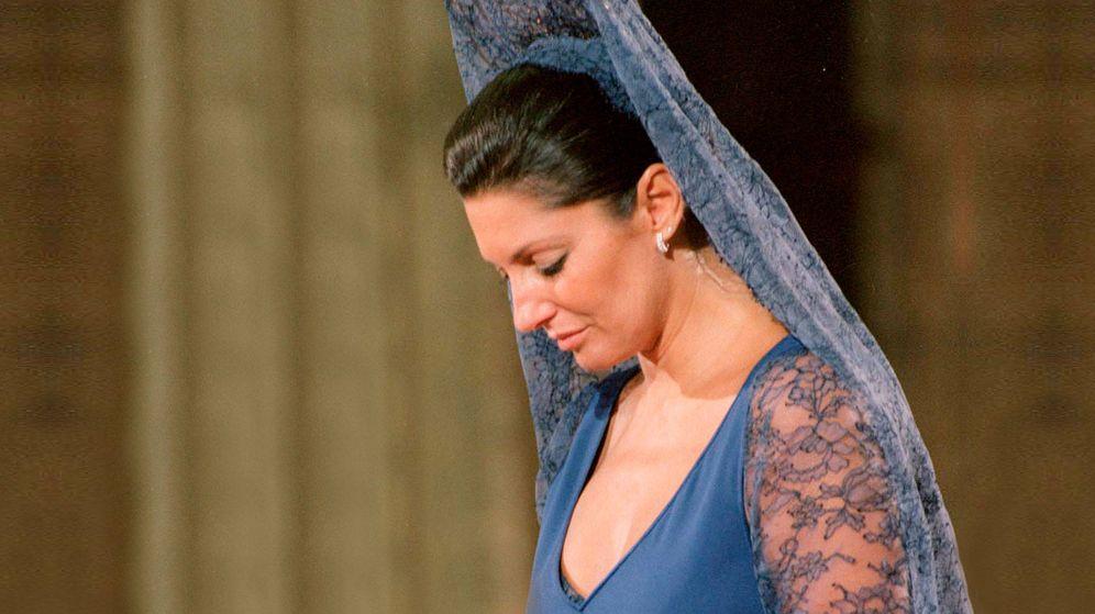 Foto: Carmina en la boda de su hijo Francisco con Eugenia Martínez de Irujo.(EFE)