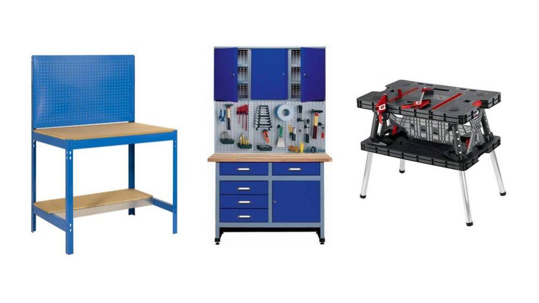 Los mejores bancos de trabajo metálicos y plegables para taller