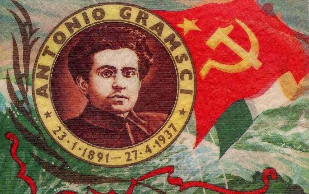 Foto: Mural de Antonio Gramsci