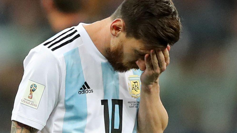 Foto: Messi, durante la derrota de Argentina contra Croacia en el Mundial de Rusia. (Reuters)