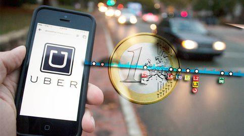 Uber trolea al metro por el cierre de la L1 con viajes compartidos a un euro